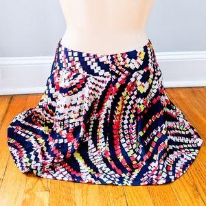 Forever 21 Geometric Polyester Mini Skirt EUC